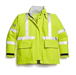 Rasco FR Mens Hi Visibility FR Rain Jacket S Yellow