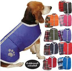 Reversible Blanket Dog Coat Jacket Reflective Rain Noreaster