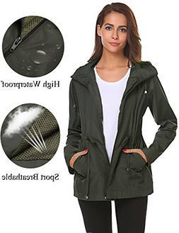 Romanstii Shell Jackets Women Waterproof,Sports Running Ligh