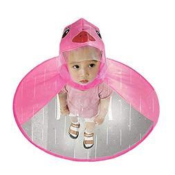 SuBoZhuLiuJ Cute Children Raincoat UFO Shape Umbrella Hat Ca