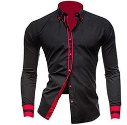 Summer-lavender-men shirt Mens Casual Long Sleeve Shirt Men