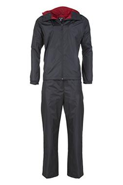 Swiss Alps Mens Ripstop Water-Resistant 2 Piece Rain Suit Bl