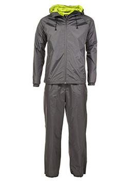 Swiss Alps Mens Ripstop Water-Resistant 2 Piece Rain Suit Ch