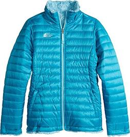 The North Face Girl's Reversible Mossbud Swirl Jacket - Algi