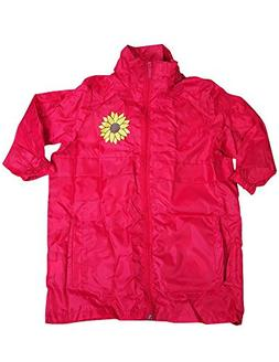 Totes - Little Girls' Packable Rain Jacket, Fuchsia 35426-5/