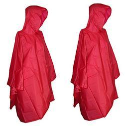 Totes Unisex Rain Poncho - 2 Pack
