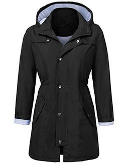 UNibelle Women's Lightweight Rain Jacket Outdoor Packable Wa