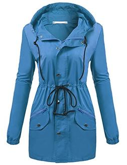 UNibelle Rain Jacket Women Lightweight Hooded Waterproof Rai