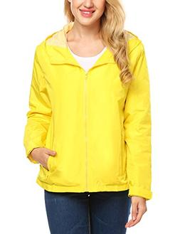 UNibelle Raincoats Waterproof Lightweight Rain Jacket Active