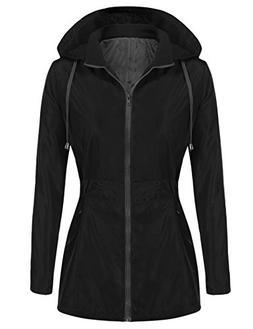 UNibelle Long Travel Windproof Coat Ourdoor Hoodie Raincoat