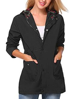 UNibelle Women's Militray Anorak Hoodie Jackets with Drawstr