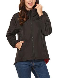 UNibelle Women's Rain Jacket Women's Packable Waterproof & B