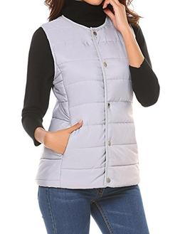 UNibelle Women's Ultra Light Sleeveless Cotton Jacket Packab