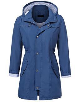UNibelle Women's Waterproof Raincoat Outdoor Hooded Rain Jac