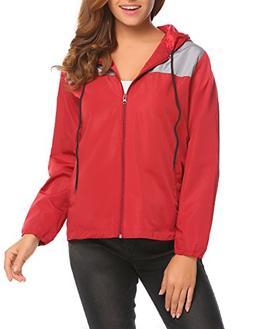 UNibelle Women's Waterproof Front-Zip Lightweight Hoodie Hik