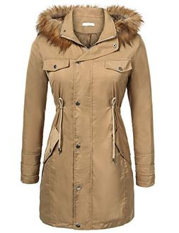 UNibelle Womens Winter Parka Hooded Coat Fleece Lined Parkas