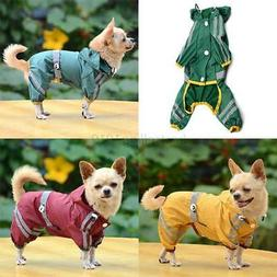 US Pet Rain Coat for Small Puppy Dogs Jacket Cute Casual Wat