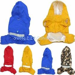 US Puppy Pet Dog Winter Rain Coat Doggy Apparel Cat Casual W