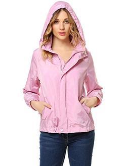 Unibelle Women's Waterproof Jacket Lightweight Hoodie Coat W
