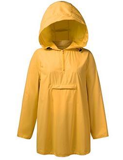 Unibelle Women's Waterproof Raincoat Outdoor Hooded Lightwei