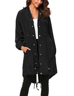 Unibelle Womens Long Waterproof Active Outdoor Rain Jacket W