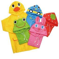 VANKER 1Pc Green- Rain Coat Cartoon Hooded Waterproof Rainco