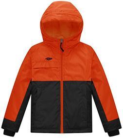 Wantdo Boy's Soft Fleece Lined Winter Jacket Raincoat with H