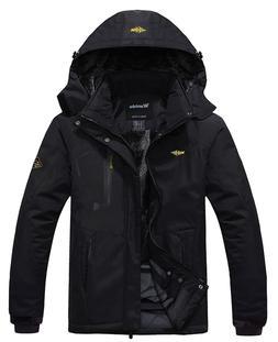 Wantdo Men's Mountain Waterproof Fleece Ski Jacket Windproof