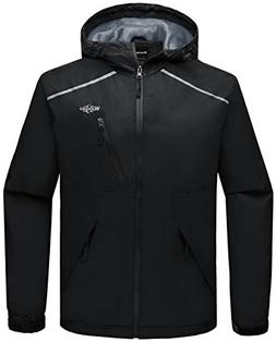 Wantdo Men's Outdoors Rain Coats Windproof Windbreaker Zippe