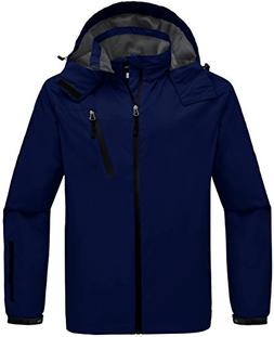 Wantdo Men's Zipper Raincoat Outdoor Windproof Wind Breaker