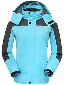 Wantdo Women's Travel Raincoat with Hood Outerwear Climbing