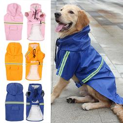 Waterproof Dog Coat Jacket Dogs Rain Jacket Reflective Dog R