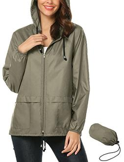 Waterproof Lightweight Rain Jacket Active Outdoor Hooded Rai