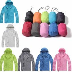 Windproof Jackets Mens Womens Oversized Lightweight Rain Out