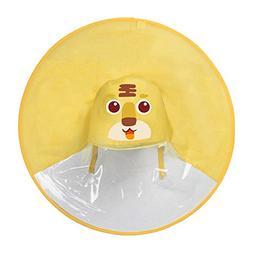 Wenjuan Hands Free Raincoat Waterproof Coat UFO Umbrella Hat