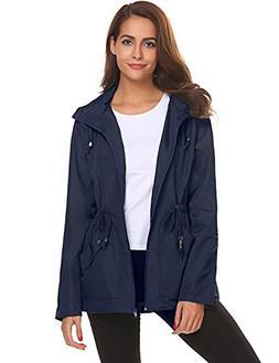 Windbreaker Jacket for Women,Casual Waterproof Coat Lightwei