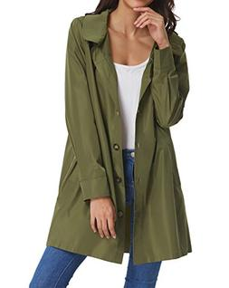 Women's Lightweight Waterproof Raincoat Quick-Drying Hooded
