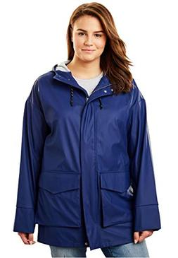 Women's Plus Size High-Low Slicker Raincoat