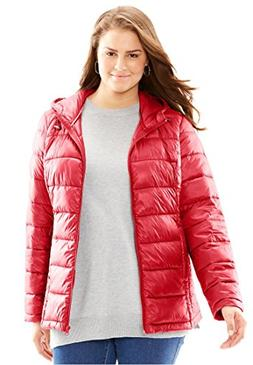 Women's Plus Size Packable Puffer Jacket