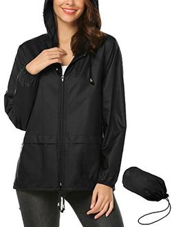 Womens Sport Rain Jacket,Waterproof Lightweight Outdoor Cycl