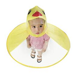Xindda Kids Baby Magical Hands-Free Raincoats, Cartoon UFO U