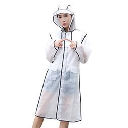 YCDC L Transparent Frosted Raincoat, Waterproof, Fashion Rai