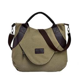 YJYDADA Bag,Retro Women's Canvas Zipper Shoulder Bags With C