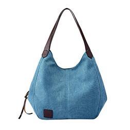 YJYDADA Women's Canvas Handbags Vintage Female Hobos Single