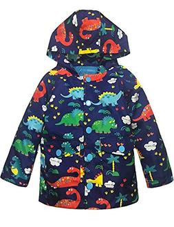 YNIQ Boys' Printed Coated Raincoat for Toddler Boys