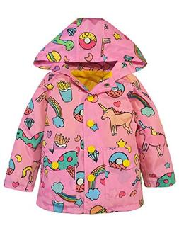 YNIQ Girls' Switchback Pink Rain Jacket for Girls 6X