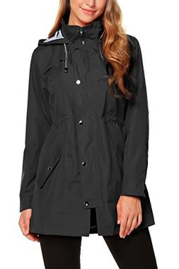 ZHENWEI Rain Jacket Women Waterproof with Hood Lightweight R