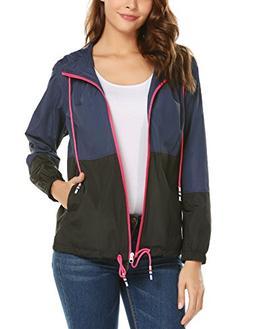 ZHENWEI Waterproof Lightweight Rain Jacket Active Outdoor Ho