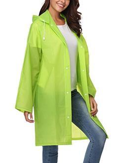 ZHENWEI Womens' Rain Coats EVA Portable Waterproof Light Wei