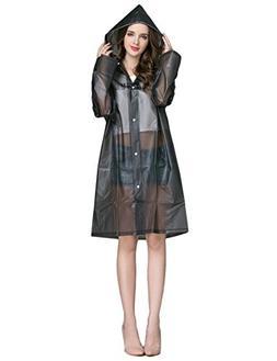 ZHENWEI Womens' Rain Coats EVA Waterproof Thicken Poncho Lon